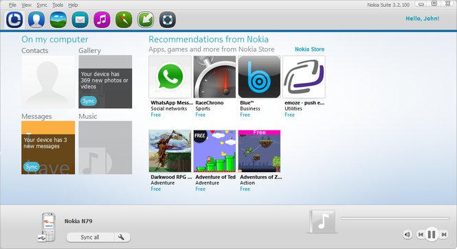 Nokia Suite Screenshot