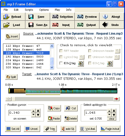 Mp3 Frame Editor Screenshot