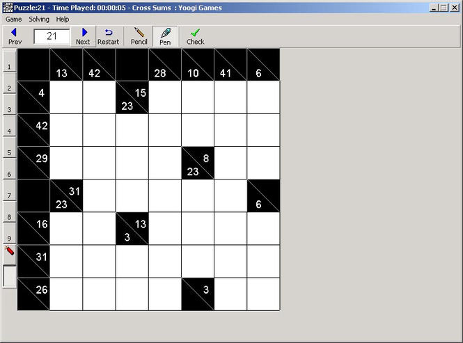 Cross Sums - Number Crossword Screenshot