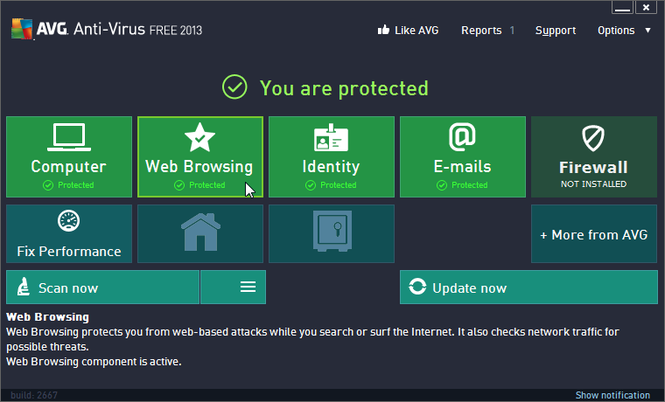AVG AntiVirus FREE Screenshot 1
