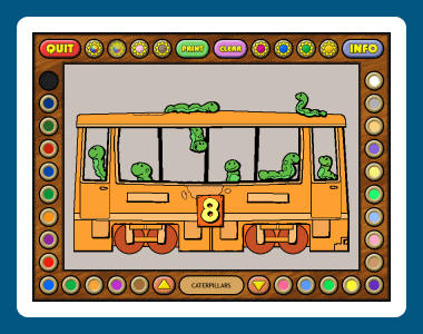 Coloring Book 6: Number Trains Screenshot 1