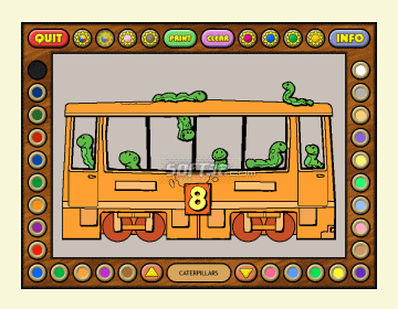 Coloring Book 6: Number Trains Screenshot 3