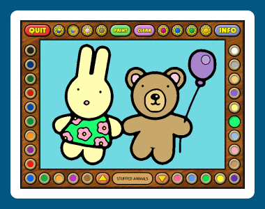 Coloring Book 7: Toys Screenshot