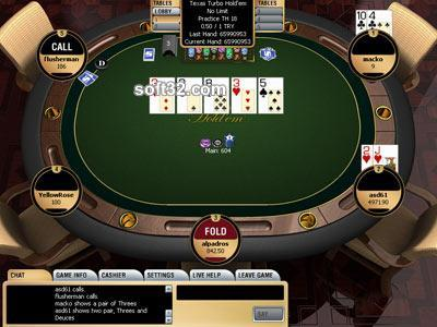 SPORTSBETTING.COM Poker Screenshot