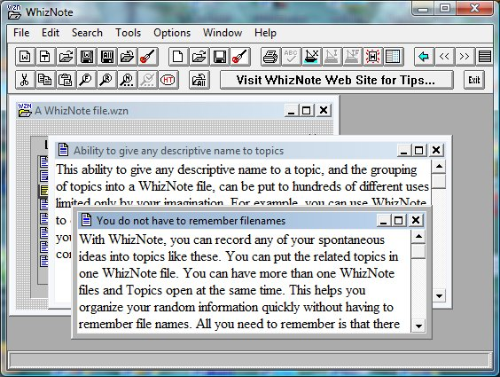 AvniTech WhizNote Screenshot