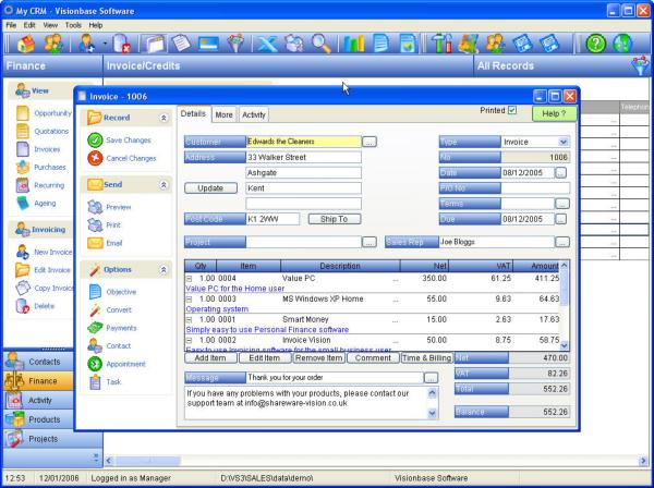My-CRM Screenshot