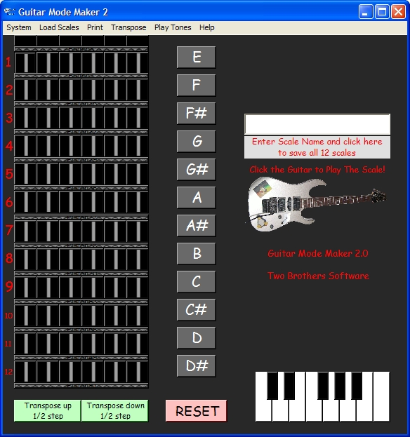 Guitar Mode Maker 2 Screenshot