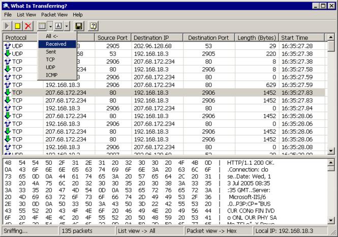 What Is Transferring Screenshot 1