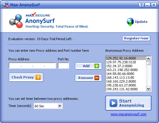 Max AnonySurf Screenshot 1