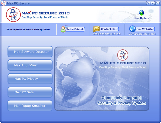 Max PC Secure Screenshot 1