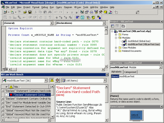 VB Law Workstation Screenshot