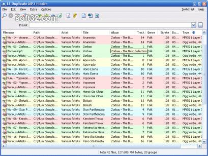 EF Duplicate MP3 Finder Screenshot 2