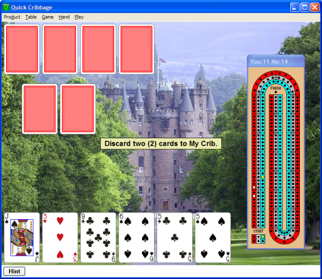 Quick Cribbage for Windows Screenshot