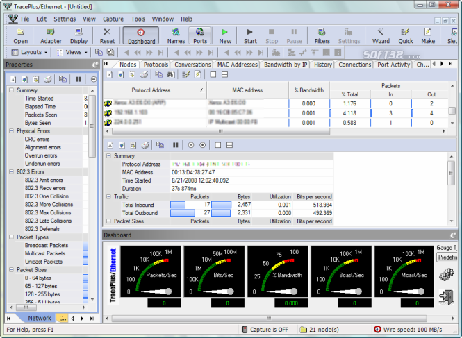 TracePlus Ethernet Screenshot 4