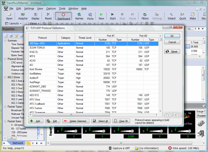 TracePlus Ethernet Screenshot 5