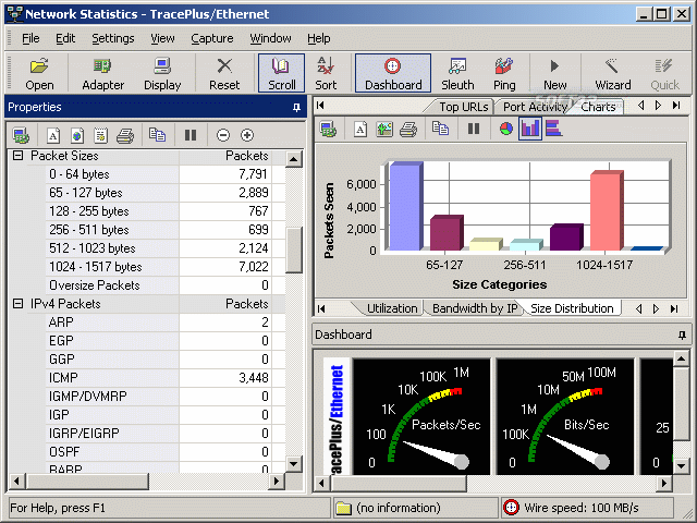 TracePlus Ethernet Screenshot 2