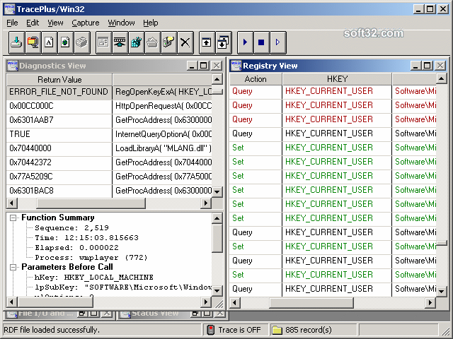 TracePlus Win32 Screenshot 3