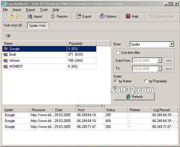 Log Analyzer Screenshot 2