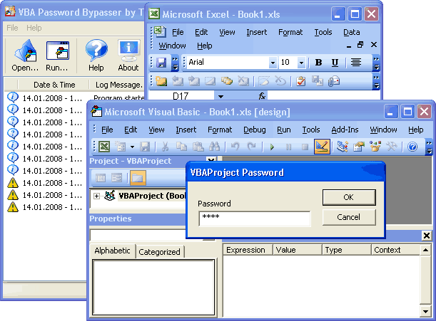 VBA Password Bypasser (TSVPB) Screenshot 1