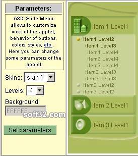 Anything3D Glide Menu Screenshot 2