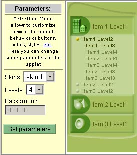 Anything3D Glide Menu Screenshot