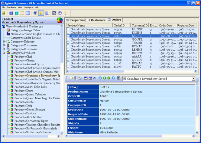 Aglowsoft SQL Query Tools Screenshot