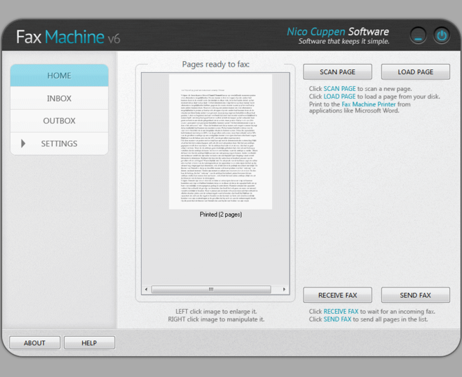 Fax Machine Screenshot