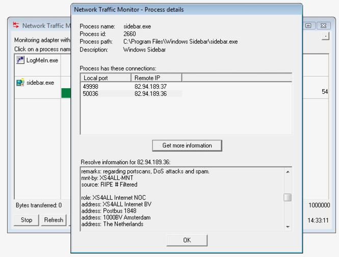 Network Traffic Monitor Screenshot 1