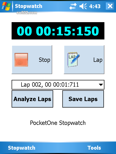 PocketOne StopWatch Screenshot 3