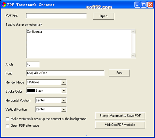 PDF Watermark Creator Screenshot 3