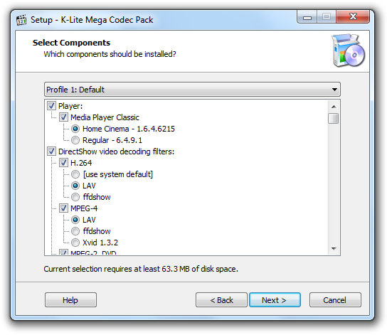 K-Lite Mega Codec Pack Screenshot