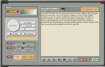 VoiceMX STUDIO Screenshot