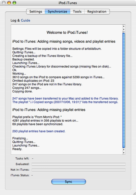 iPod.iTunes Screenshot 1