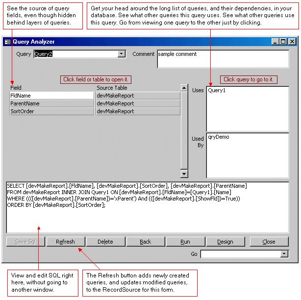 Access Development Tools Demo Screenshot