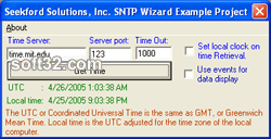 SNTP Wizard ActiveX Screenshot 1