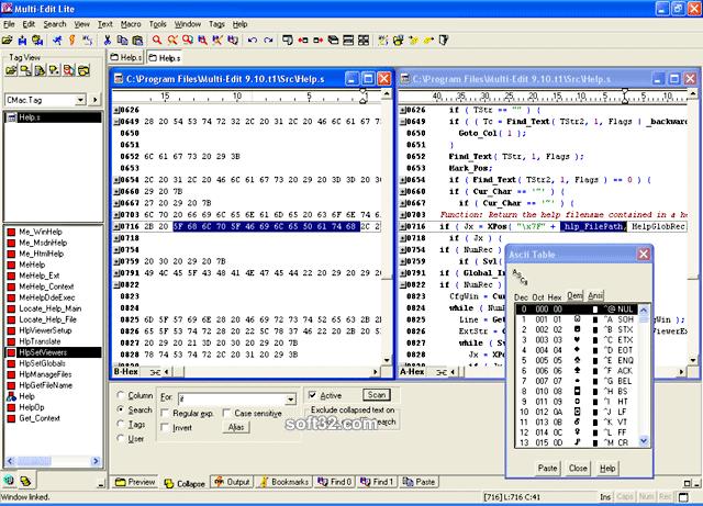 Multi-Edit 2008 Screenshot 2