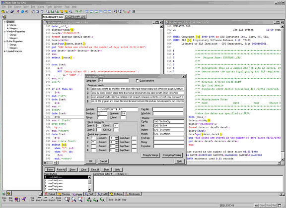 Multi-Edit Lite for SAS 2006 Screenshot