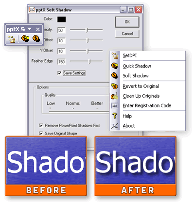 pptXTREME SoftShadow for PowerPoint Screenshot 1