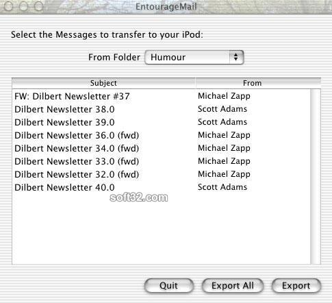 EntourageMail Screenshot