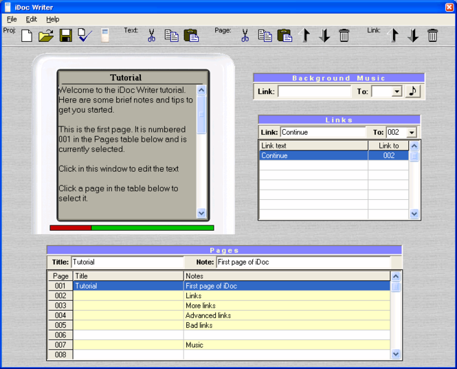 iDoc Writer Screenshot