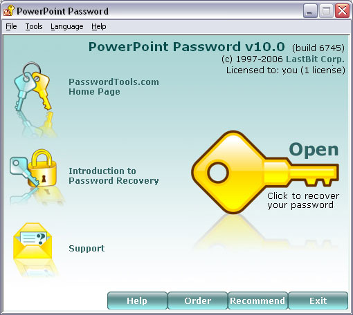 LastBit PowerPoint Password Recovery Screenshot 1