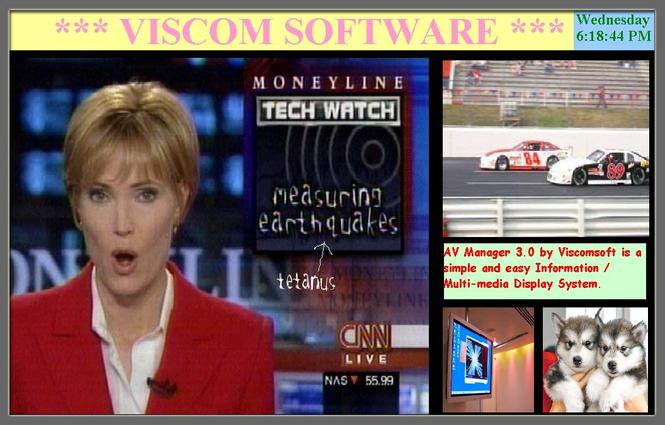 VISCOM AV Manager Digital Signage Software Screenshot