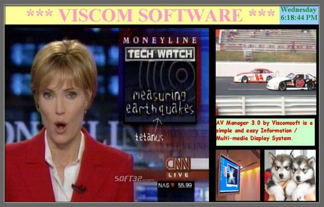 VISCOM AV Manager Digital Signage Software Screenshot 3