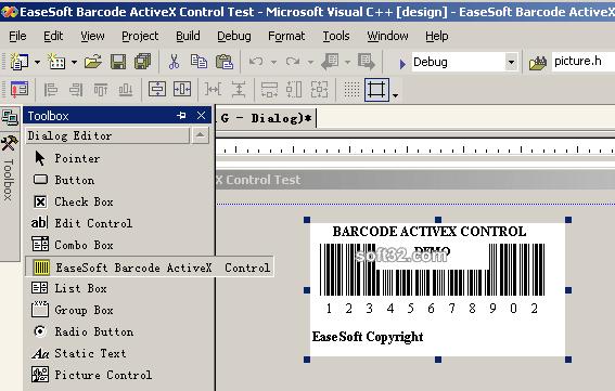 EaseSoft Barcode ActiveX Control Screenshot 3