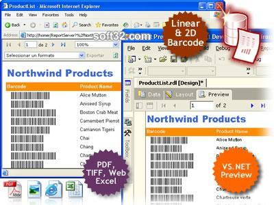 MS SQL Reporting Services Barcode .NET Screenshot 2