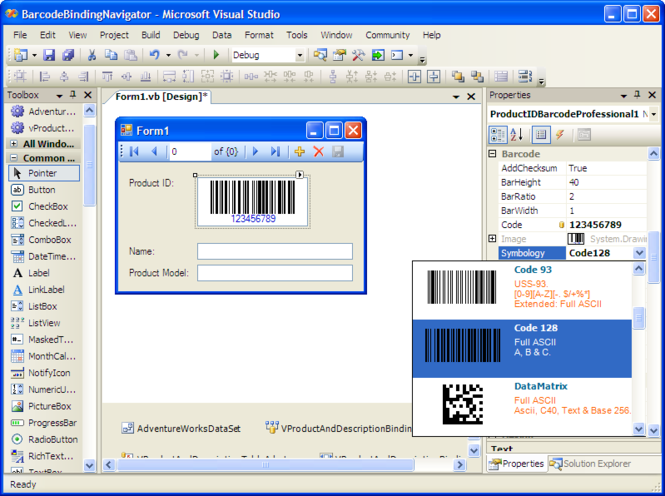 .NET Barcode Professional Screenshot