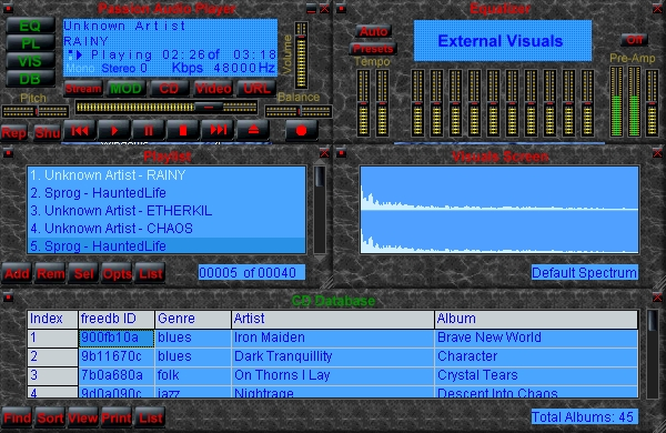 Passion Audio Player Screenshot