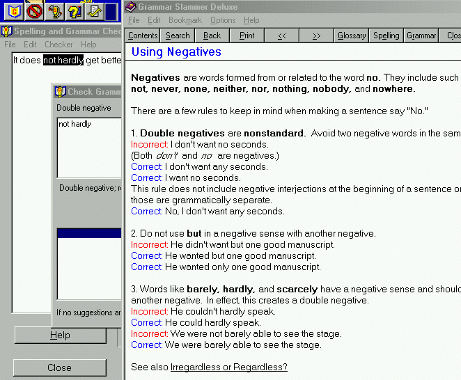 Grammar Slammer with Checkers Screenshot