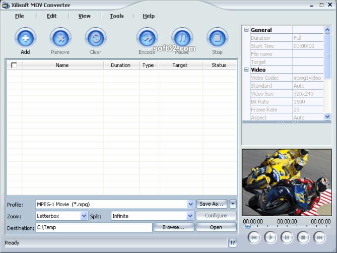 Xilisoft MOV Converter Screenshot 3