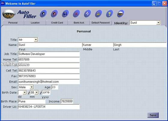 Max Secure Autofiller Screenshot